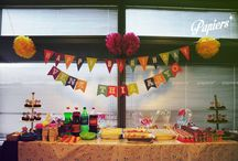Colorful kiddies themed birthday bash