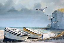 bateaux aquarelle