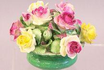 bone china florals / by linda f johnson