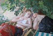 Francine Van Hove / Francine Van Hove французская художница, родилась в 1942 году в Париже, где живет и работает по сей день. В своем творчестве отдает предпочтение  рисованию обнаженной натуры. Сайт http://goo.gl/jkEXlk
