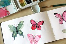 Watercolour Sketchbook / Watercolour sketchbook by Whittle Design Studio Ltd. Penzance, Cornwall. All images are copyright Whittle Design Studio.