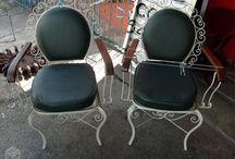 Cheirs / cadeiras, sofás, poltronas e bancos em metal.