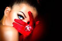Moda en Rojo. Fashion in Red.