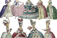 18thC fashion plates and prints / Clothing / by Suzi Clarke