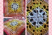 Scheepjes Cal 2014 / Tien week lang 6 vierkantjes maken en 2 week voor het in elkaar zetten