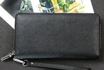 Crossgrain leather  Large Zipper Wristlet Wallet
