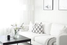 Biely interiér