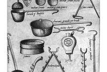 Medieval cooking stensils