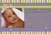 Announcement Cards / Baby announcement cards