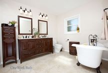 Bathroom Design 82 / A traditional spa style design bathroom remodel.