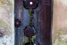 Doors, photos, textile art, inspiration