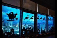 Karácsonyi irodai dekor