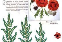 Цветы из бисера / цветы из бисера