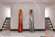 jacketTREE / Kunst-Garderobe, handbemalt und aus einer Vollholz-Baumscheibe. Alles Einzelstücke und individuell abänderbar.