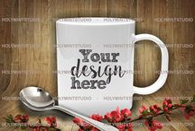 Mug Mockups / Our gorgeous styled desktop photos are perfect to showcase your business, teaching your products and other purposes. Easy to place your own design and give them glam style ♥