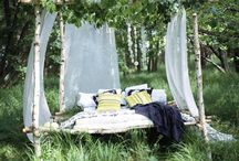 Relax in the garden / Bed in the garden