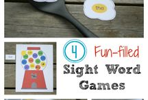 Take home sight word/letter games