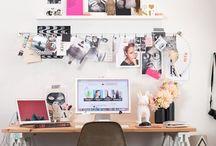 Trabalhando em casa, lindos home offices