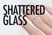 Shattered Glass Nail Art & Nail Designs