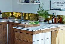 Kitchen / kitchen. vintage. DIY. Handcrafted wood work. danish Design. Copenhagen.