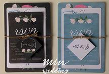 Malowane kwiaty - zaproszenia i zawiadomienia / Zaproszenia i zawiadomienia z motywem malowanych kwiatów. Projekt, realizacja i zdjęcia: minwedding  http://minwedding.pl/blog/?p=2490