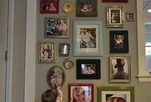 frame that wall / fill the wall with photos and art / by Trudy Montgomery