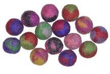 Wool Felt Beads