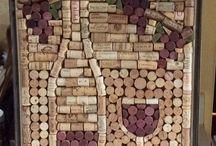 Artesanato com rolhas de vinho