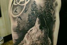 Tatuaże z wilkiem
