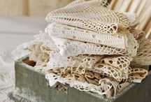 recycled lace doilies