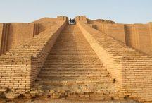 The stepped Ziggurat temple.