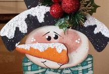 Navidad Madera Country