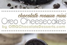 Mini cheesecake agli oreo