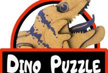Dino puzzle / Kartondan eglenceli boyanabilir saglikli ve uc boyutlu dinazor puzzle lar