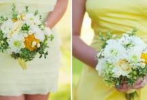 yellow/green/white wedding