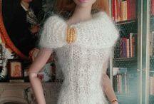 Barbi v pleteném a háčkovaném