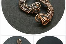 Wire Wrapped Copper Earrings
