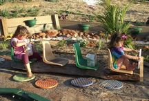 Colorful Playground Ideas / Great DIY ideas to make a fun playground for kids.