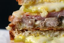 Meaty sandwiches