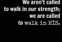 Walking in His strength