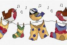 Cross stitch ~ Birds