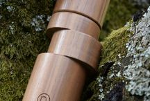 OFF-AXIS pepper mills / For our very first pepper mill model we choose asymmetry. This model exists in 6 different version.