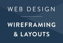 Web Design • Layouts / The art and practice of wireframing and developing a usable layout.