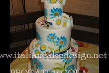 Wedding cake margherita farfalle bagna al maraschino ganache al cioccolato bianco e al latte