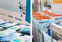 Plan D || Evento VoIP2day / Diseño y aplicaciones para diferentes piezas para el evento VoIP2day por Avanzada 7