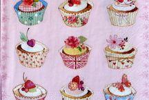 Muffins Decoupage