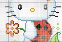Hello Kitty - cross stitch