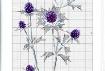 십자수 꽃