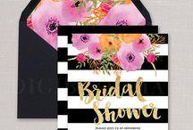 Black & White Bridal Shower