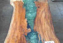 acrilico y madera